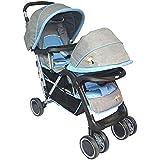 Kiko Twin Baby Stroller ، Grey ، 23-2145