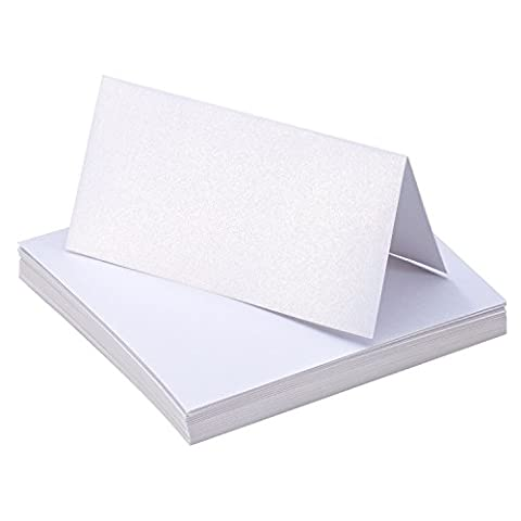 Bememo 50 Pieces White Table Cards Name Place Cards for