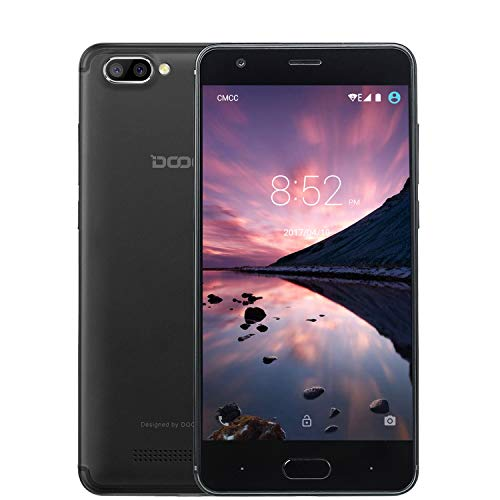 Telefonia Mobile, DOOGEE x20 Dual SIM Free 3G Smartphone In Offerta nuovi, 5.0 Pollici HD Schermo Cellulari Android 7.0 MT6580, 16GB Rom Telefono Dual 5.0MP Fotocamera Digitale, 2580mAh - Nero