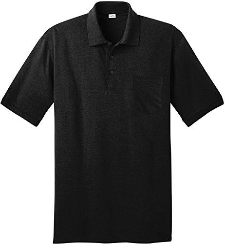 Joe's USA Herren Poloshirt, kurzärmlig, in 10 Farben Größen: XS-6XL - Schwarz - Groß -