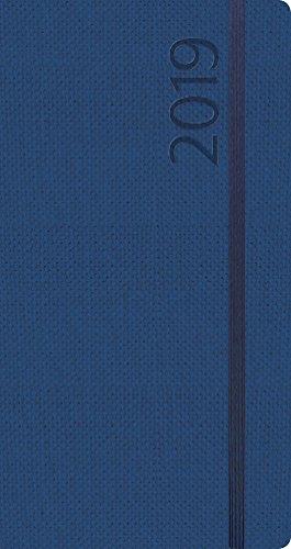 Agenda Struktur dunkelblau M 2019: Terminplaner oder Terminkalender als Ringbuch mit Wochenkalender, Gummiband und Jahresplaner 2019/2020; 9,5 x 17cm