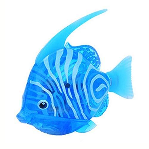 Kylewo Schwimmen Roboter Fisch - Lustige Wasser aktivierte lebensechte elektronische Mini Roboter Fische Schwimmen Fische Spielzeug | Buntes LED-Licht