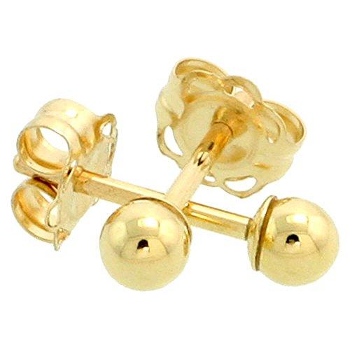 boucles-doreilles-clous-doreille-boule-3-mm-or-jaune-9-carats