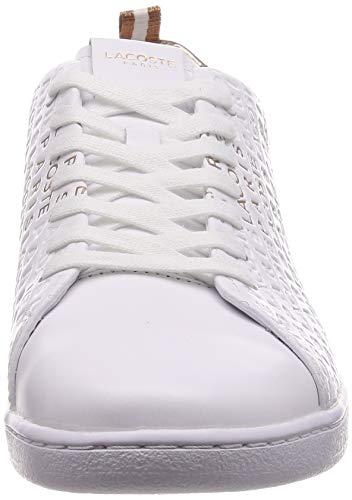 Lacoste Carnaby Evo Sneaker Damen weiß/rosé Gold, 6 UK - 39.5 EU - 8 US