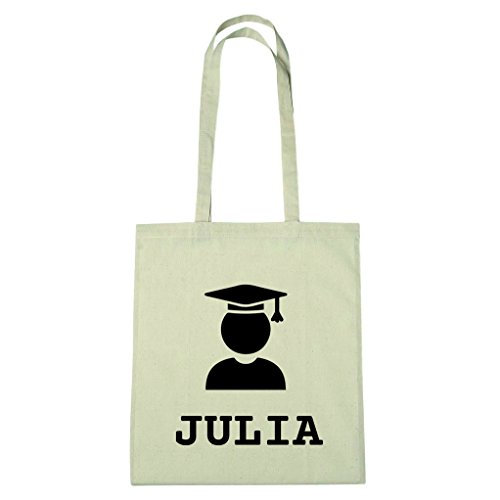 JOllify Baumwolltasche Abschluss Geschenk für JULIA - Absolventin - Absolvent