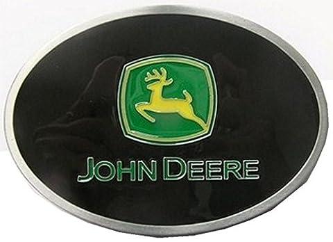 John Deere Enamelled Pewter Belt Buckle. (Takes belt width 42mm)