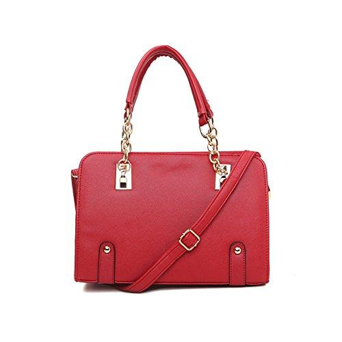 xiaoxuan coreano moda borse borsa a tracolla per donna, Pink (rosa) - BG00003E Red