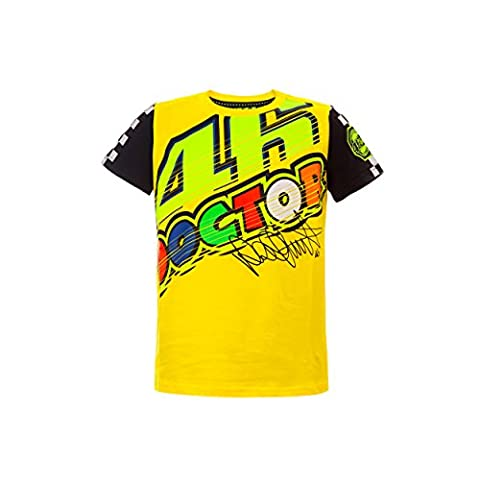 Valentino Rossi VR46 Moto GP The Doctor Jaune Enfant T-shirt