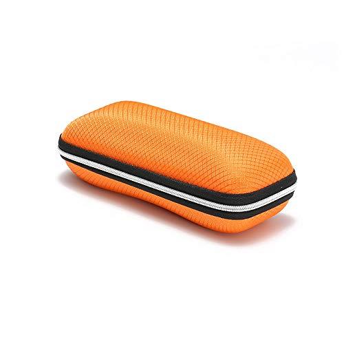 FiedFikt New Square Sonnenbrillen-Etui für Damen/Herren/Studenten, Brillenschutz, Antidruck-Box, Sonnenbrillen-Schmucksammlung, Reißverschlussetui, Sonnenbrillen-Aufbewahrungstasche Orange