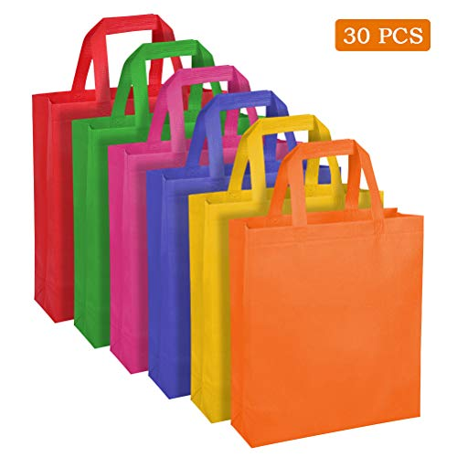 WOWOSS 30 Bolsos no Tejidos con Asas de 6 Colores