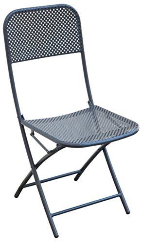 PEGANE Chaise de Jardin Coloris Gris Anthracite - Dim : 40 x 57 x 89 cm - A Usage Professionnel