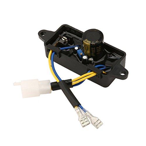 Dailyinshop 2/2.5/2.8/5/6.5/7/8KW Universaldruckregler für Benzingenerator (Farbe: Schwarz)