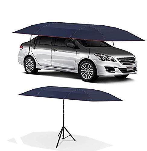 YLLSQ Halbautomatische Auto Zelt Mobile Carport Klapp Tragbare Auto Schützende Regenschirm Sonnenschirm Sonnenschutz Regenschirm Zweizweck Autokleidung