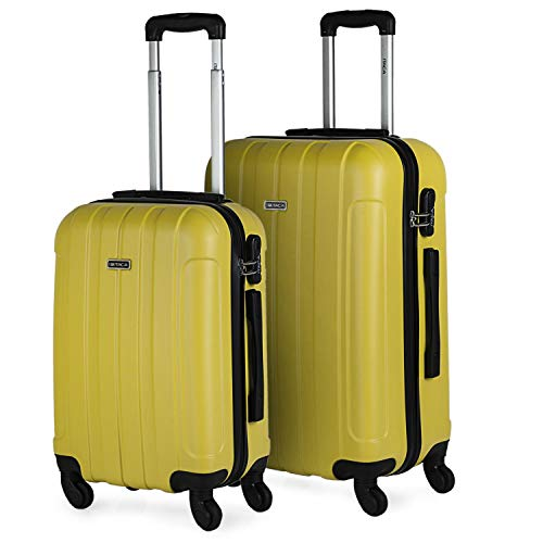 ITACA - Juego Maletas de Viaje Rígidas 4 Ruedas Trolley 55/65 cm ABS. Resistentes y Ligeras. Asas Candado...