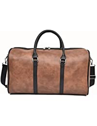 FLYSXP The First Layer of Leather Hand Luggage Bag Handmade Twilight Shoulder Diagonal Computer Bag Color : Dark Brown 36x14x27cm Briefcase