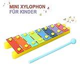 CrzKo Mini Xylophon Kinder, Schlaginstrument Musikinstrument Spielzeug Geschenke Glockenspiel für Babys,Kinder und Kleinkinde mit Hellen Bunten Tasten