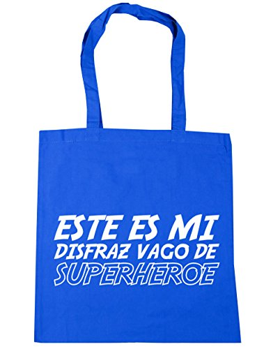 HippoWarehouse Este es mi disfraz Vago de Superhéroe Bolso de Playa Bolsa Compra Con Asas para gimnasio 42cm x 38cm 10 litros capacidad