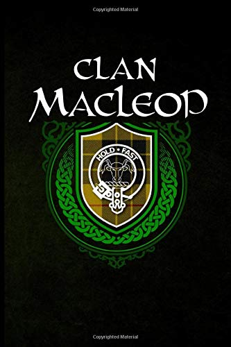Clan MacLeod: Scottish Clan Tartan Family Crest - Blank Lined Journal with Soft Matte Cover -