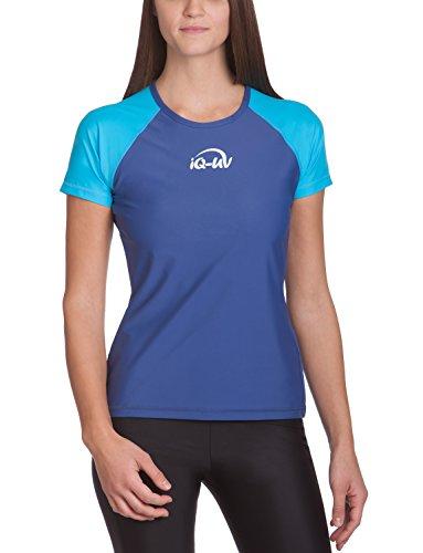 iQ-UV Damen 300 Shirt Regular Geschnitten Schutz Uv T-Shirt, Mehrfarbig (Tury-Blau (Navy)), XL (44)