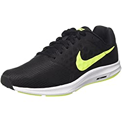 Nike Downshifter 7, Scarpe Running Uomo, Nero (Black/Volt/White), 41 EU