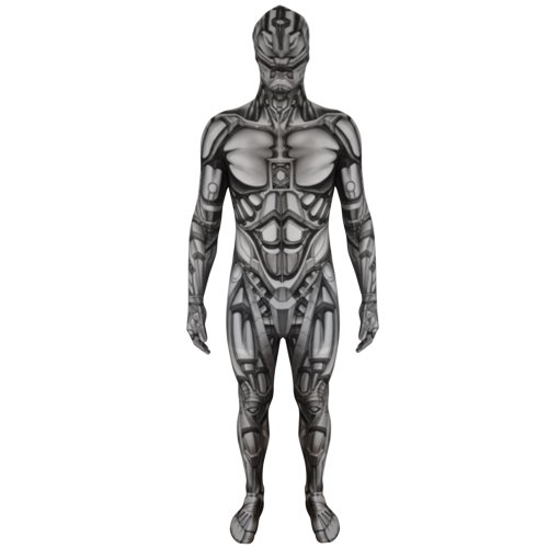 Morphsuits KLMOAM - Monster Android Roboter Kinder Kostüm, 119-136 cm, Größe M