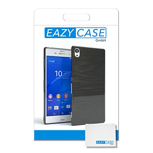 "EAZY CASE Handyhülle für Sony Xperia Z2 Hülle - Premium Handy Schutzhülle Slimcover ""Clear"" hochwertig und kratzfest - Transparentes Silikon Backcover in Gold Brushed Anthrazit"