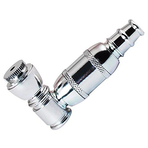 Formax420–Pipa per tabacco, colore: argento e verde assortiti