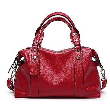 Frauen die große Kapazität Tote Boston Bag Red