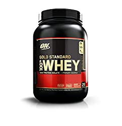 The sports nutrition industry's best-selling whey protein powder represents the gold standard of protein quality. Made in GMP compliant company owned and operated facilities in the U.S.A., Gold Standard 100% Whey uses pure Whey Protein Isolates as th...