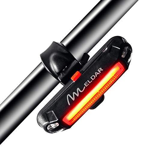 Luz trasera de Bicicleta con LED Potente. Luz Intermitente USB Recargable con 6 Modalidades. Faro para Bici Brillante y Resistente al Agua IPX4(TRASERA COLOR ROJO)
