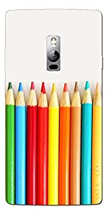 SEI HEI KI Designer Back Cover For One Plus 2 - Multicolor
