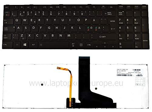 OEM schwarz QWERTY Nordic Tastatur mit Hintergrundbeleuchtung Dell L50 L50D l70t-b L70D M50 C50D M50T M50D U50 U50T S50D S50T S55 S55D S55T s55-a S70 s70-a S75 S75D S75DT S75T + Werkzeug Set Service (Laptop Toshiba S55t)