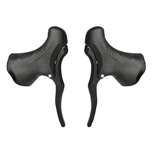 Lixada Paar Leichte Aluminium Fahrradbremsgriff, MTB Bremshebel Vorne und Hinten Bremshebel Drop Lenker Set -
