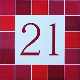 Azul'Decor35 Haus Steingut Figur - Wählen Sie Ihre Nummer und die Größe Ihrer Straßenschild!