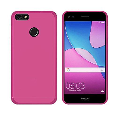 TBOC® Rosa Gel TPU Hülle für Huawei Y6 Pro (2017) - Huawei P9 Lite Mini (5.0 Zoll) Ultradünn Flexibel Silikonhülle