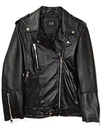 bf3ef164 Zara Women's Oversized Leather Jacket 3461/200 Black