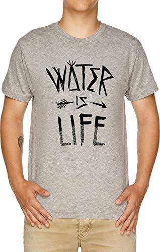 Water is Life Herren T-Shirt Grau -