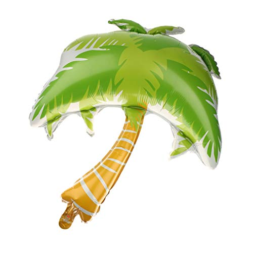 Balloon Party - 1pc Green Palm Tree Golden Hawaiian Beach Party Balloon Bday Wedding Decoration Coconut Foil - Decorations Balloon Wedding Arch Party Stand Balloons