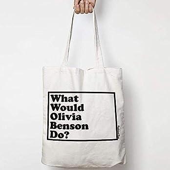 WHAT WOULD OLIVIA BENSON DO? WWYD leinentasche aus natürlicher baumwolle WAHL VON ZWEI FARBEN LAW & ORDER: SVU