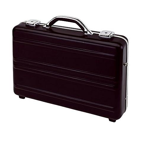 Aktenkoffer Aluminium Schwarz Attachékoffer 44,5 x 32,5 x 10 cm Businesskoffer mit Schlüsselschloss & Schultergurt