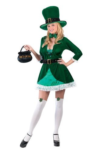 Sannysis St. Patricks Day Kostüm Damen Grüner Kleeblatt