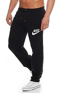 Nike Big Logo Fleece Herren Jogginghose Farbe: Schwarz/Weiß; Größe: L