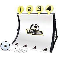 Rexco Sport's 2007531 - Porta da Calcio per Bambini, 4 in 1, con Bersaglio, Kickback