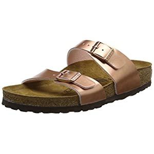Birkenstock Sydney, Women's Open Toe Sandals, Pink (Soft Metallic Rose Gold Soft Metallic Rose Gold), 5.5 UK (39 EU)