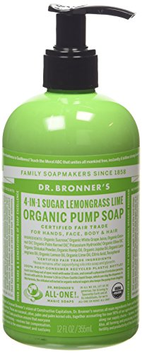 Dr Bronner's 356 ml Organic Liquid Lemongrass Hand Soap