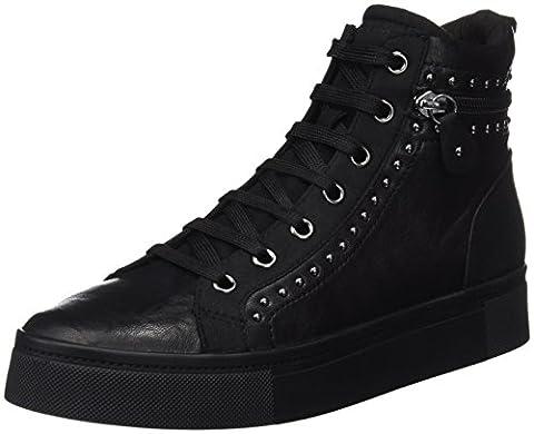 Geox Damen D Hidence A Hohe Sneaker, Schwarz (Black), 39 EU