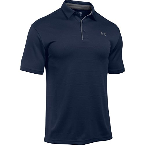 Under Armour T-Shirt Tech Polo - Manches Courtes pour Homme - Bleu (Midnight Navy) - FR : L (Taille Fabricant : LG)