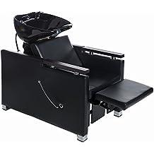 Fauteuil de lavage de barbier fauteuil coiffeur salon de coiffure professionnel 255133+