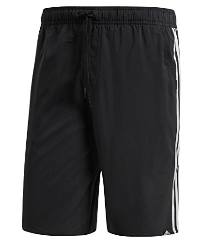 adidas 3-Stripes Short de Bain Homme, Noir, FR (Taille Fabricant : 2XL)
