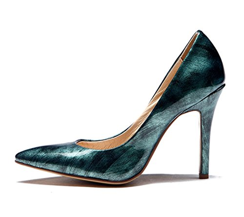 TDA , Sandales Compensées femme vert foncé